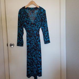 Beautiful Teal/Brown dress